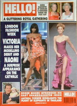 <!--2000-02-29-->Hello! magazine - Victoria Beckham and Naomi Campbell cove