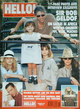<!--2001-05-08-->Hello! magazine - Bob Geldof and daughters cover (8 May 20