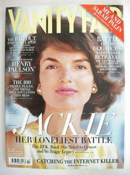 Vanity Fair magazine - Jackie Kennedy cover (October 2009)