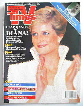 <!--1989-11-11-->TV Times magazine - Princess Diana cover (11-17 November 1