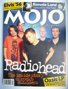 <!--1997-09-->MOJO magazine - Radiohead cover (September 1997 - Issue 46)