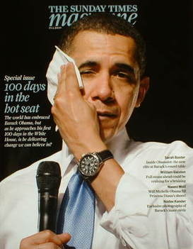 <!--2009-04-19-->The Sunday Times magazine - Barack Obama cover (19 April 2
