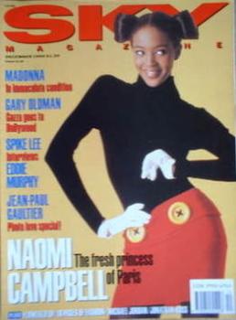 Sky magazine - Naomi Campbell cover (December 1990)