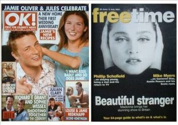 OK! magazine - Jamie Oliver and Jules cover (6 July 2001 - Issue 271)