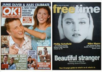 <!--2001-07-06-->OK! magazine - Jamie Oliver and Jules cover (6 July 2001 -
