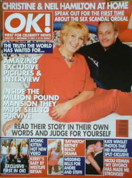OK! magazine - Christine Hamilton and Neil Hamilton cover (14 September 2001 - Issue 281)
