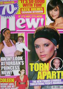 New magazine - 28 January 2008 - Victoria Beckham and Katie Price cover