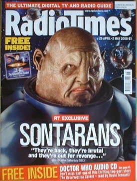 <!--2008-04-26-->Radio Times magazine - Doctor Who Sontarans cover (26 Apri