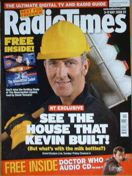 <!--2008-05-03-->Radio Times magazine - Kevin McCloud cover (3-9 May 2008)