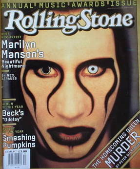 Rolling Stone magazine - Marilyn Manson cover (23 January 1997)