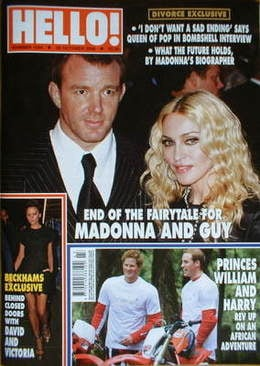 <!--2008-10-28-->Hello! magazine - Madonna and Guy Ritchie cover (28 Octobe