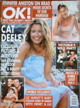 OK! magazine - Cat Deeley cover (26 October 2001 - Issue 287)