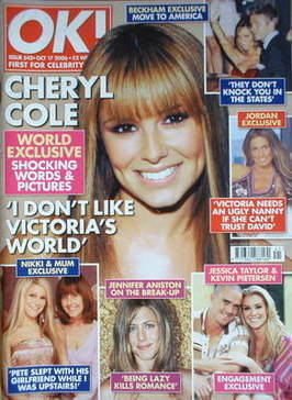 <!--2006-10-17-->OK! magazine - Cheryl Cole cover (17 October 2006 - Issue