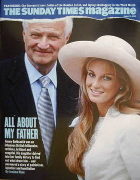 <!--2008-08-10-->The Sunday Times magazine - Sir James Goldsmith and Jemima