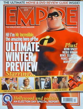 <!--2004-12-->Empire magazine - The Incredibles cover (December 2004 - Issu