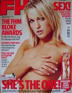 <!--2004-02-->FHM magazine - Kayleigh Pearson cover (February 2004)