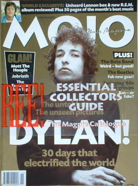 <!--1998-11-->MOJO magazine - Bob Dylan cover (November 1998 - Issue 60)