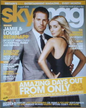 Sky TV magazine - August 2008 - Jamie Redknapp and Louise Redknapp cover