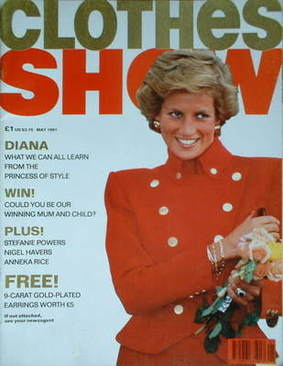 <!--1991-05-->Clothes Show magazine - May 1991 - Princess Diana cover