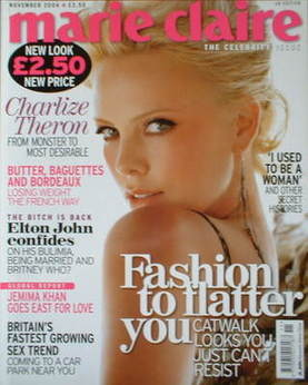 <!--2004-11-->British Marie Claire magazine - November 2004 - Charlize Ther