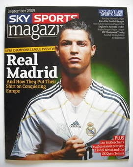 Sky Sports magazine - September 2009 - Cristiano Ronaldo cover