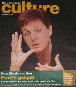 Culture magazine - Paul McCartney cover (24 September 2006)