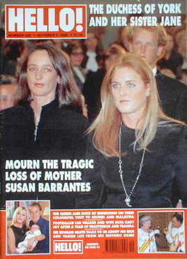 <!--1998-10-03-->Hello! magazine - The Duchess of York and Jane Luedecke co