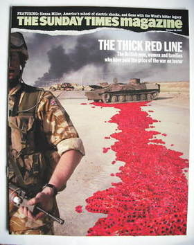 <!--2007-10-28-->The Sunday Times magazine - The Thick Red Line cover (28 O