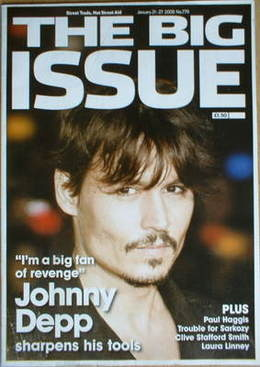 The Big Issue Magazine Johnny Depp Cover 21 27 January 2008
