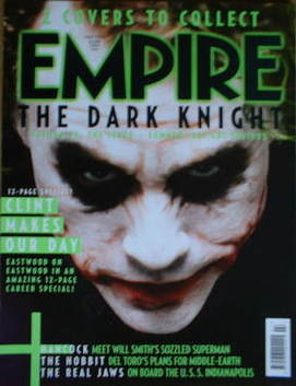 <!--2008-07-->Empire magazine - Heath Ledger The Dark Knight / Joker cover