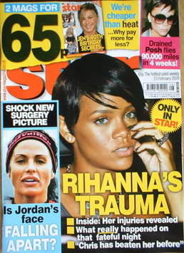 <!--2009-02-23-->Star magazine - Rihanna cover (23 February 2009)
