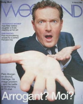 Weekend magazine - Piers Morgan cover (21 February 2009)