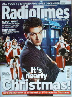 <!--2006-12-16-->Radio Times magazine - David Tennant cover (16-22 December