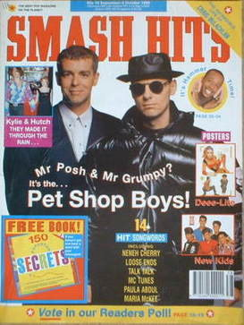<!--1990-09-19-->Smash Hits magazine - Pet Shop Boys cover (19 September-2