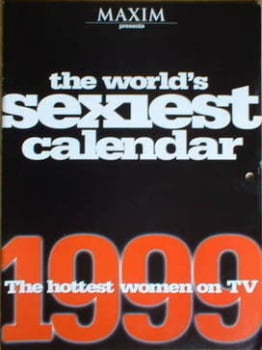 MAXIM calendar - The Hottest Women on TV 1999 calendar
