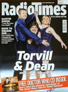 <!--2007-01-20-->Radio Times magazine - Torvill & Dean cover (20-26 January