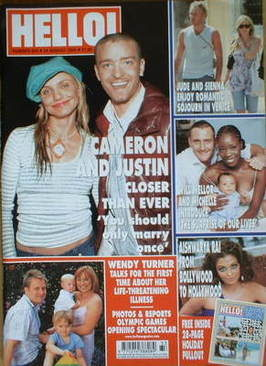 <!--2004-08-24-->Hello! magazine - Cameron Diaz and Justin Timberlake cover