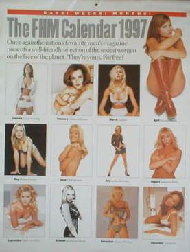 FHM calendar 1997