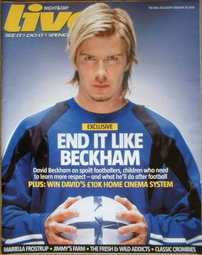 <!--2006-02-26-->Live magazine - David Beckham cover (26 February 2006)