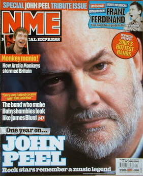 <!--2005-10-15-->NME magazine - John Peel cover (15 October 2005)