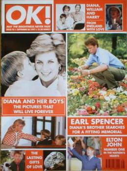 OK! magazine - Princess Diana cover (26 September 1997 - Issue 78)