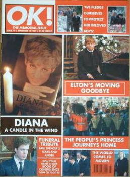 OK! magazine - Princess Diana cover (19 September 1997 - Issue 77)