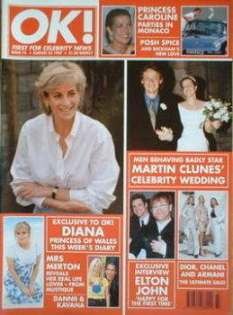 OK! magazine - Princess Diana cover (22 August 1997 - Issue 73)