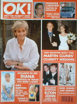 <!--1997-08-22-->OK! magazine - Princess Diana cover (22 August 1997 - Issu