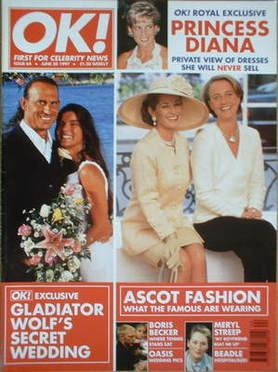 <!--1997-06-20-->OK! magazine - Ascot Fashion / Wolf wedding cover (20 June