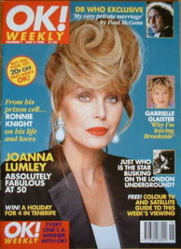 OK! magazine - Joanna Lumley cover (5 May 1996 - Issue 7)