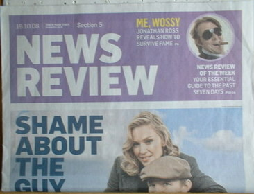 The Sunday Times News Review newspaper supplement - Madonna and Guy Ritche