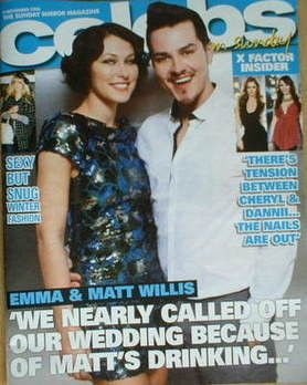 <!--2008-11-09-->Celebs magazine - Emma and Matt Willis (9 November 2008)