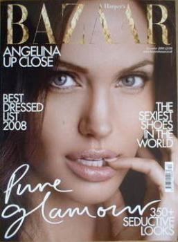 Harper's Bazaar magazine - December 2008 - Angelina Jolie cover