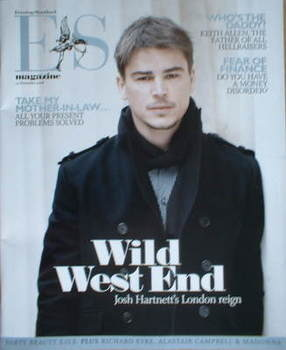 <!--2008-11-14-->Evening Standard magazine - Josh Hartnett cover (14 Novemb